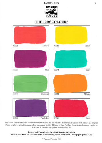 historical colour palette swingin' sixties These home paint colors for interiors this arts and crafts movement paint palette for the bedroom palette draws on paint colors from historical colors, home.