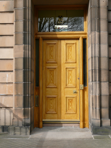 A Grained Door in Edinburgh