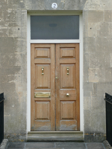 Varnished Door in Royal Crescent, Bath