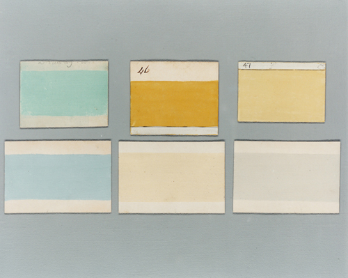 Paint colour card from 1807