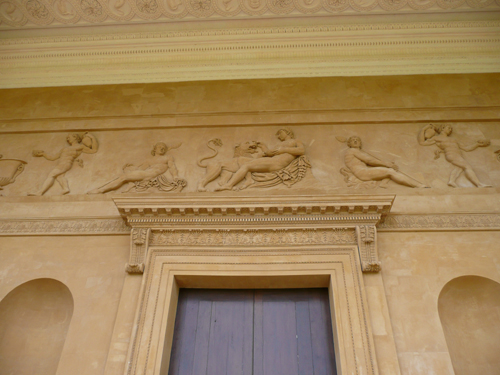 Patrick Baty carried out extensive analysis of the painted decoration at Stowe House