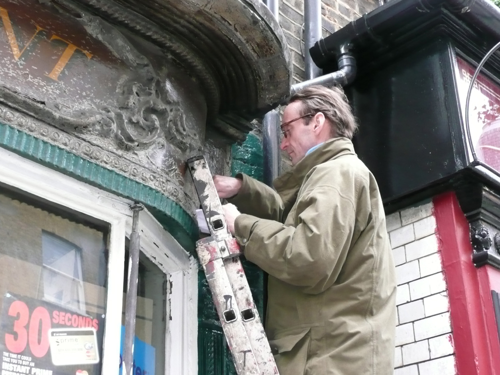 Patrick Baty sampled the paint on the 18th century shopfront at 88 Dean Street, Soho