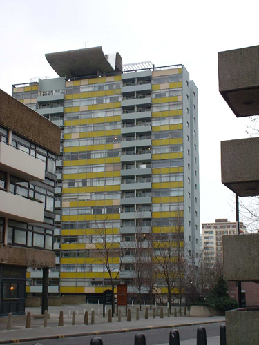Patrick Baty carried out the paint analysis at the Golden Lane Housing Estate in London