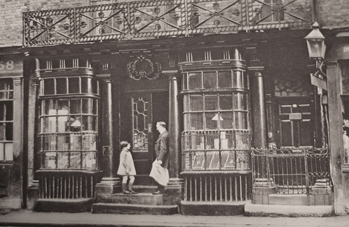 Patrick Baty carried out the analysis of the paint on this 18th century shopfront in Spitalfields