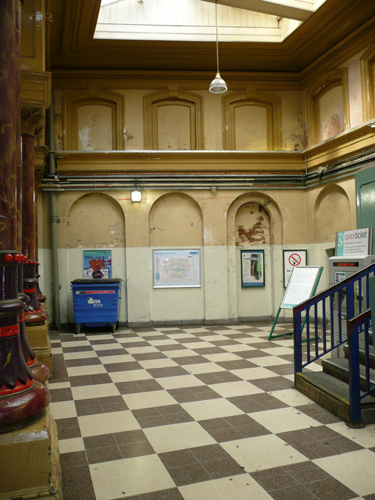 Patrick Baty carried out the paint analysis of the Booking Hall