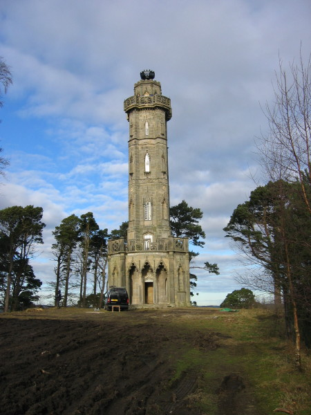 Patrick Baty carried out an analysis of the paint on the exterior of the Brizlee Tower, Alnwick