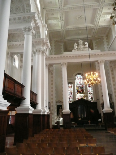 Patrick Baty carried out the analysis of the paint at Christ Church, Spitalfield