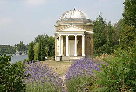 Patrick Baty assisted with the restoration of David Garrick's Temple to Shakespeare in Hampton
