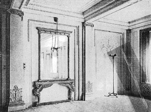 Patrick Baty carried out an investigation of the decoration in the Grill Room and other areas of the Cafe Royal