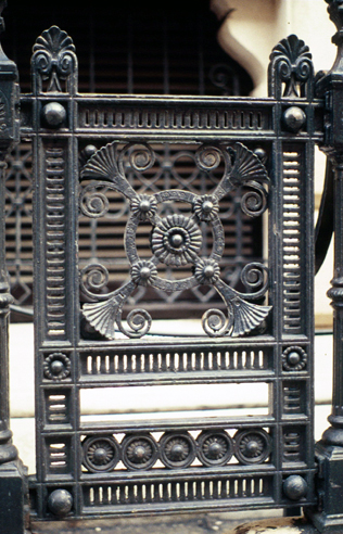 The Foreign Office railings in King Charles' Street before they were painted Venetian Red