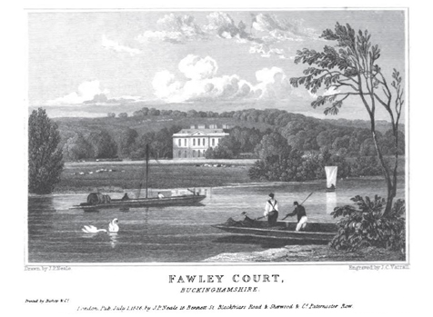 Patrick Baty carried out analysis of the earlier decorative schemes at Fawley Court and was able to date a number of later elements