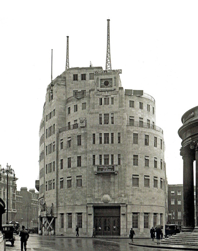 BBC Broadcasting House Recently Completed 1931