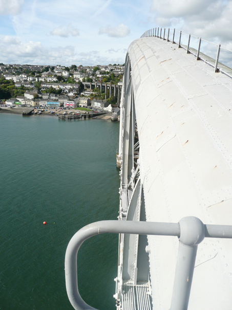 Patrick Baty risked life and limb to sample the paint on Brunel's Royal Albert Bridge
