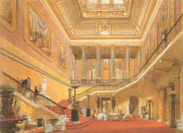 Patrick Baty worked on paint and colour problems at Lancaster House for a number of years