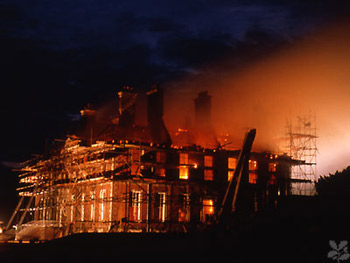Patrick Baty worked as part of a small team on the paint analysis at Uppark following the fire of 1989