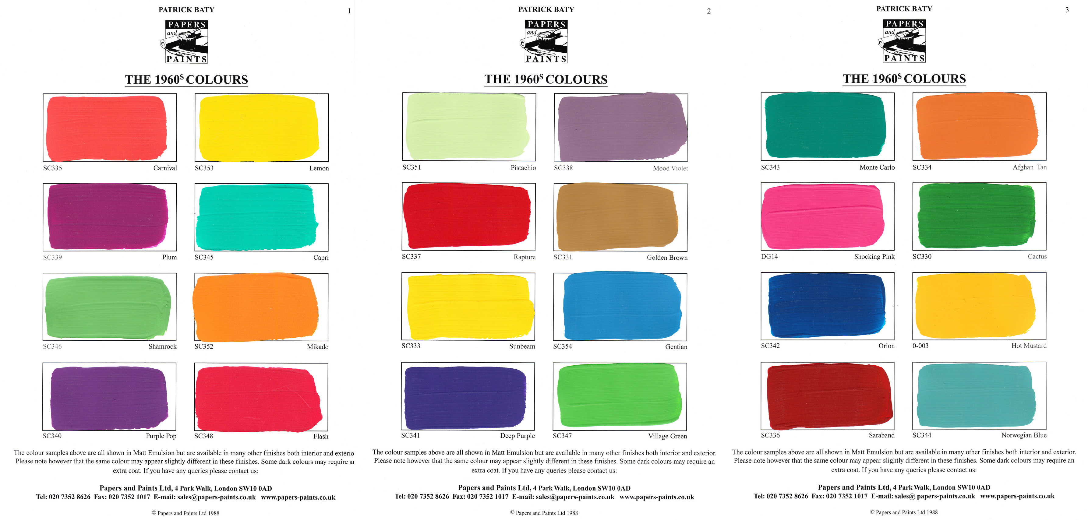 Great Paint Colors From the 1960s 3572 x 1708 · 1133 kB · jpeg