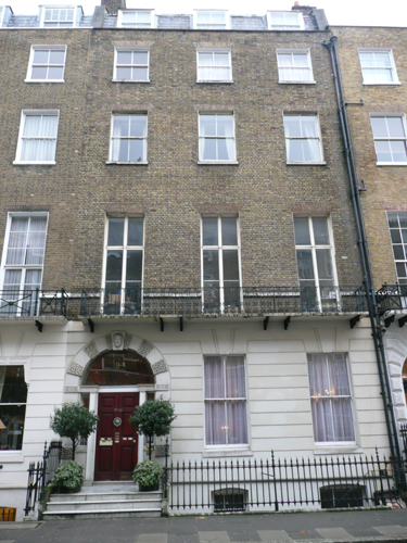 Patrick Baty was asked to advise on appropriate decoration on this 18th century house in Harley Street