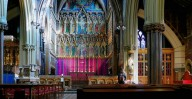 Patrick Baty measured the painted organ pipes to reproduce the paint colours