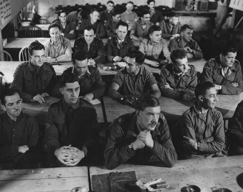 Audience in demolition class. Milton Hall, ca.1944