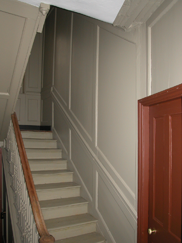 Patrick Baty was commissioned to carry out the paint analysis of the interior and exterior of the house