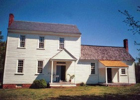 Patrick Baty carried out paint analysis in this North Carolina plantation house