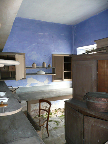 The ultramarine blue distemper in the scullery at Calke Abbey - Patrick Baty