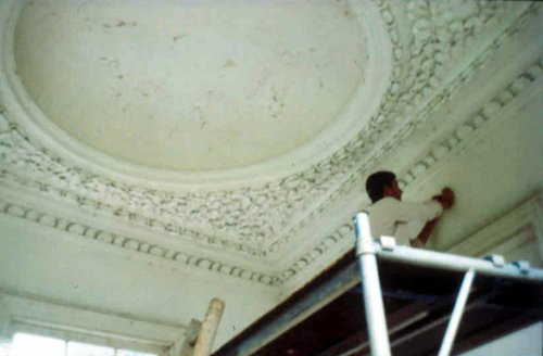 Patrick Baty sampling Gazebo ceiling