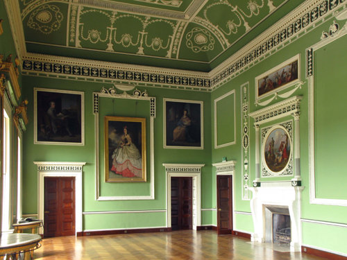 Patrick Baty provided advice and colour matched samples for Richard Ireland's restoration of the Robert Adam schemes at Headfort House in Ireland