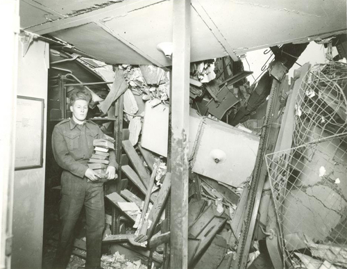 London Library Bombed 1944