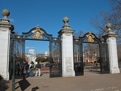 Patrick Baty carried out the analysis of the paint on these gates