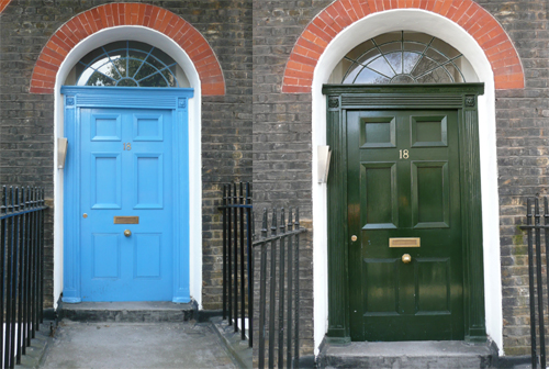 No 18 Bernard Street - before & after my work