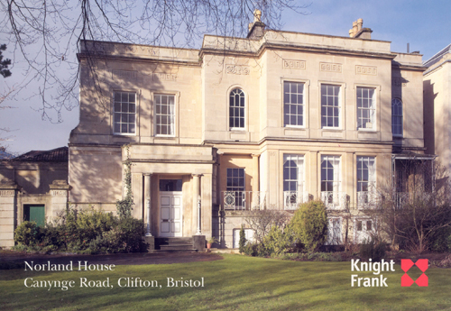 Patrick Baty was asked to provide advice on appropriate paint colours for this Regency villa in Clifton, Bristol