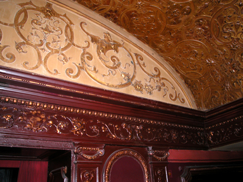 Patrick Baty carried out paint analysis in the Palace Theatre