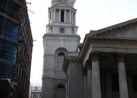 Patrick Baty was commissioned to carry out the paint analysis of the interior on this Hawksmoor church in London