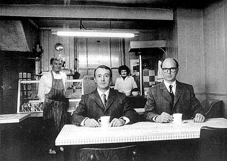 Gilbert & George in The Market Cafe by Dan Farson via Classic Cafes