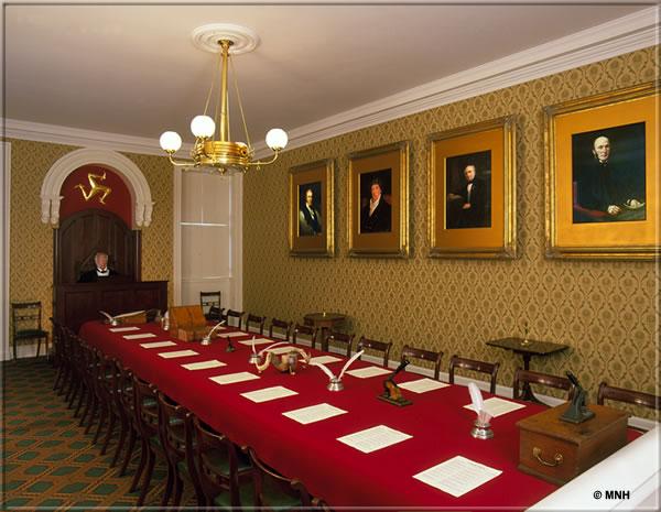 Tynwald Chamber - copyright Manx National Heritage