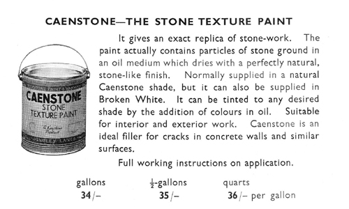 Caenstone - a Stone-textured paint of 1950