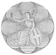 The artist's daughter, Phillida, acted as the model for this design on the reverse of the 1963-64 £5 and £10 notes