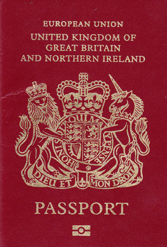 The Royal Arms on the UK passport were designed by Reynolds Stone