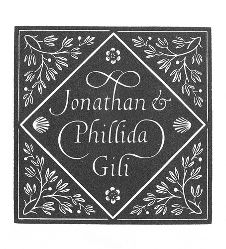 Jonathan & Phillida Gili bookplate - Reynolds Stone