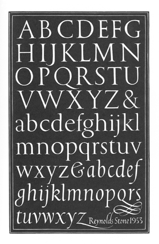 Unpublished Alphabet - Reynolds Stone