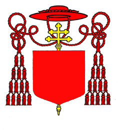 Heraldic Galero for a Cardinal