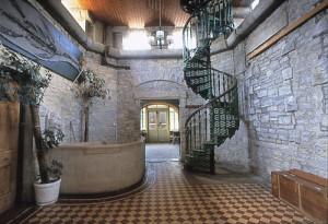 Durlston Castle - Interior Staircase - Before Restoration