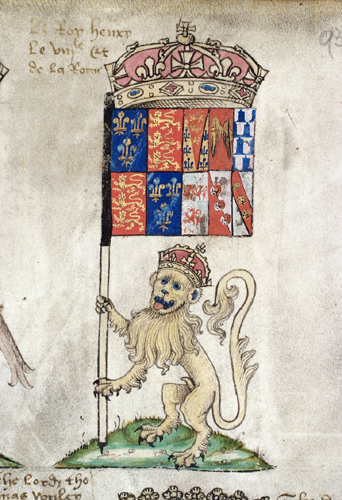 Lion of Henry VIII - Prince Arthur's Book