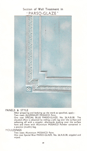 Section of wall treatment in Parsons' 'Parso-Glaze' - Two