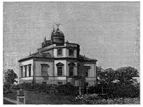 Kew Observatory, from the 'Proceedings of the Royal Society of London' Volume 39