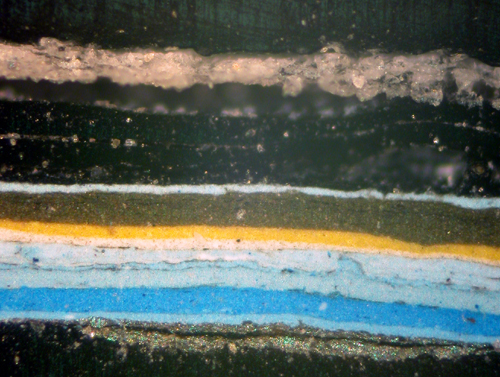Cross Section of Paint from the Upper Fluting