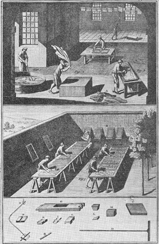 Diderot Encyclopédie - preparing panels
