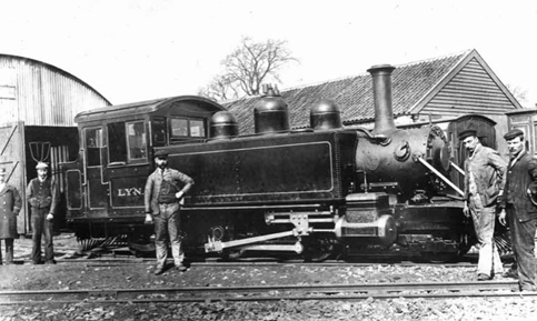 LYN in front of the Loco Shed