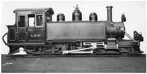 "Baldwin Locomotive No. 15965 ""LYN"" built for the Lynton & Barnstaple Railway, UK"